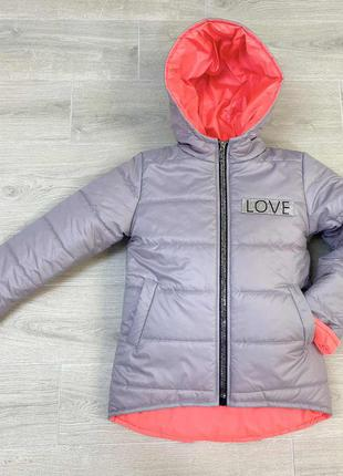 "Куртка для девочки демисезонная "" love"""