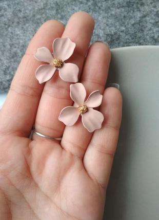 Красивые женские цветочные женские серьги, серьги в виде цветк...