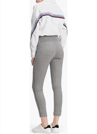 Стильные брюки штаны от stradivarius в клетку гусиная лапка