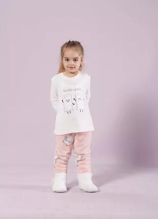 Детская теплая пижама 6-7 лет