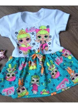 Детское красивое летнее платье
