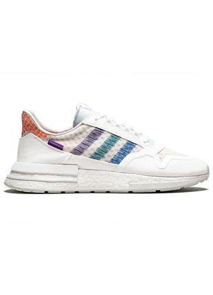 Кроссовки мужские adidas zx 500 rm белые / кросівки чоловічі...
