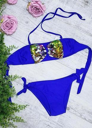 Модный красивый раздельный купальник для девочки
