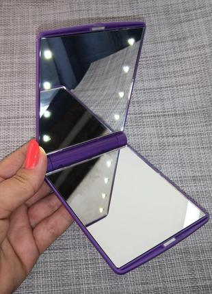Зеркало светодиодное косметическое с Дed подсветкой для макияжа р