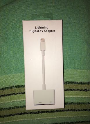 Переходник для iPhone на HDMI адаптер на iPad для телевизора