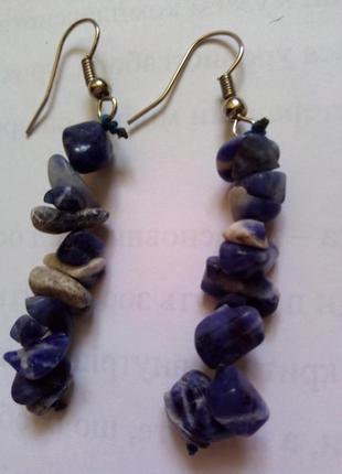Серьги из камней лазурита