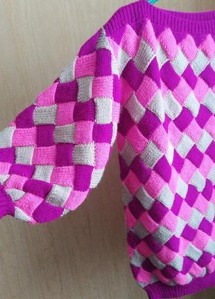 Свитер, вящаный свитер, свитер оверсайз, свитер ручной работы