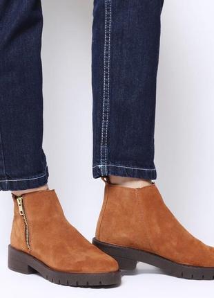 Замшевые ботинки/полуботинки, натуральная замша