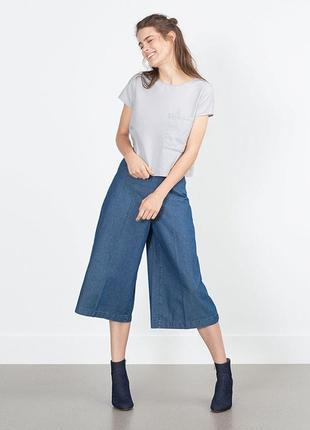 Базовые итальянские джинсовые кюлоты calzedonia