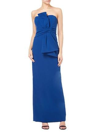 Дизайнерское вечернее длинное платье бандо adrianna papell, вы...