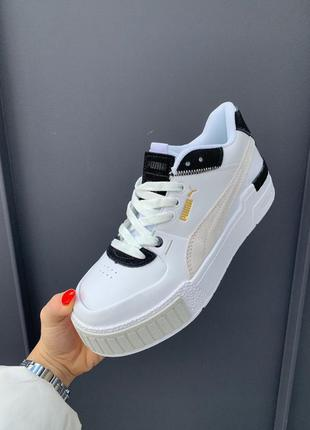 Женские кроссовки puma cali sport mix white black