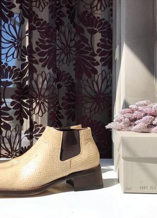Кожаные туфли, ботинки челси с квадратным носком aketohn, италия