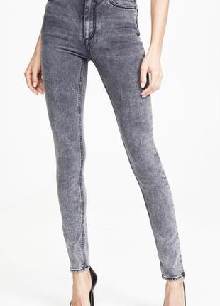 Итальянские джинсы супер скинни с высокой посадкой, высокая талия