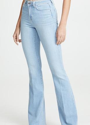Новые расклешенные эластичные длинные джинсы