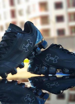 Крутые кросовки under armour scorpio running shoes black/white