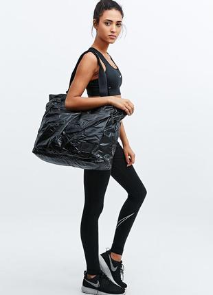 Вместительная черная сумка-тоут, шоппер nike