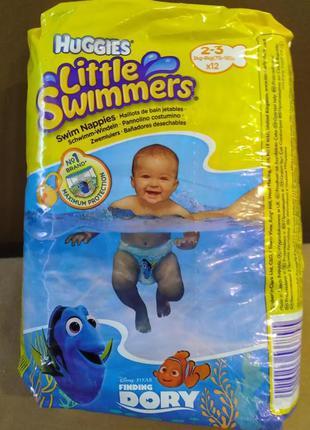 Трусики-подгузники huggies little swimmers для плаванья