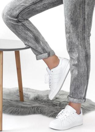 Adidas stan smith white, женские белые кроссовки/кеды адидас.