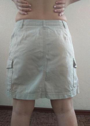 Плотная светлая юбка gap , одежда в стиле кэжуал