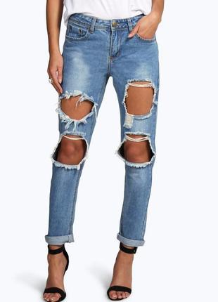 Новые крутые рваные джинсы бойфренды лимитированная коллекция ...