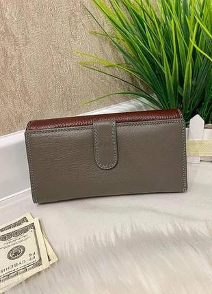 Женский кожаный кошелёк dr. bond business с визитницей