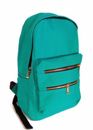Универсальный рюкзак для школы и прогулок зеленый