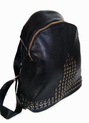 Универсальный прочный рюкзак для школы и прогулок с эко-кожи