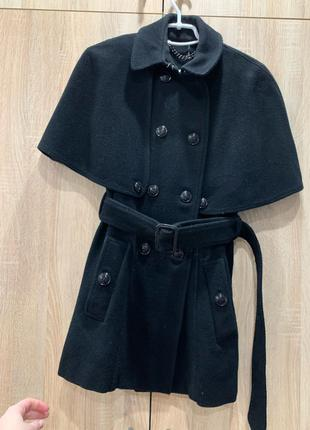 Пальто кейп шерстяное Burberry без подклада