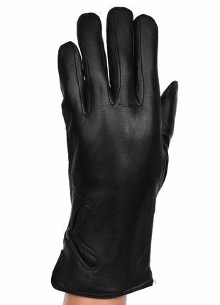Женские кожаные зимние перчатки на натуральном меху кролика