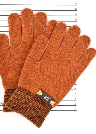 Детские одинарные шерстяные перчатки для мальчиков - длина 20 см