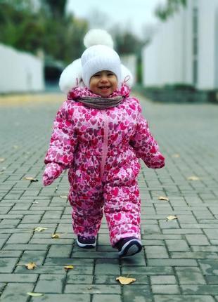 Красивенный зимний комбинезон на девочку, на овчине, на рост 8...