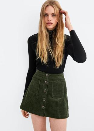 Вельветовая юбка от zara