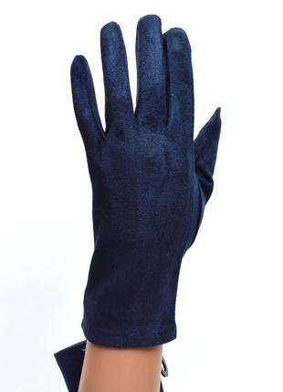 Женские трикотажные перчатки с сенсорными пальчиками без покладке