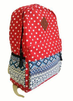 Рюкзак для школы и прогулок красный