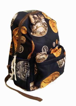 Рюкзак для школы и прогулок черный