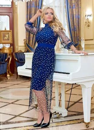Женское красивое  платье с сеткой