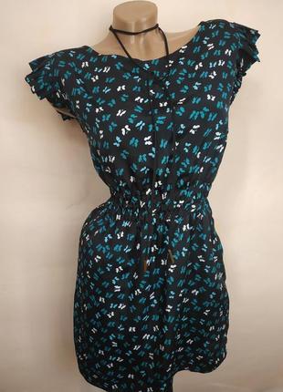 Легкое платье в бабочки