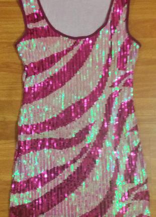 Шикарное яркое платье в пайетки!