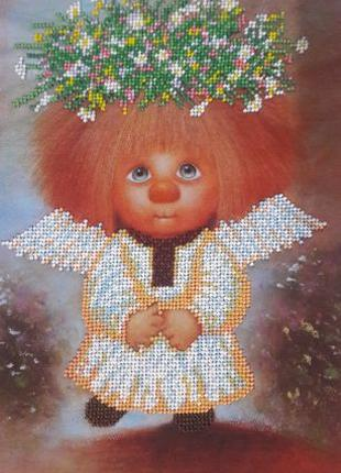 Вышивка бисером Домовенок подарок картина handmade