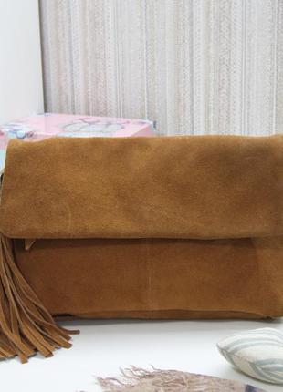 Компактная сумка кроссбоди pieces, дания, натуральная кожа