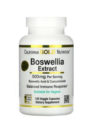 Экстракт босвеллии и куркумы, 250 мг, California Gold, 120 капсул