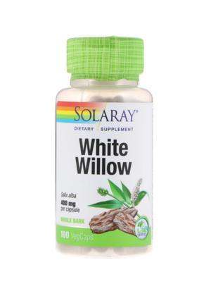Природный аспирин, кора белой ивы, 400 мг, Solaray, 100 капсул
