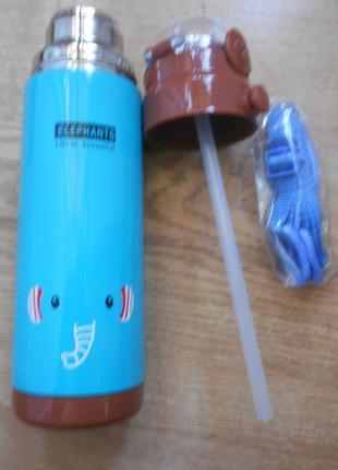 Термос Слоник 500 мл с трубочкой