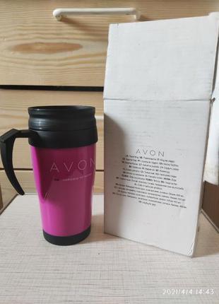 Термокружка от Avon 450 мл розового цвета