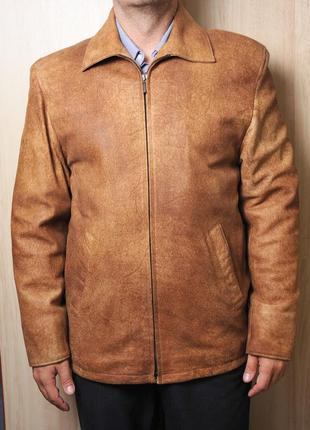 Мягкая кожаная куртка осенняя leon 👍👍👍