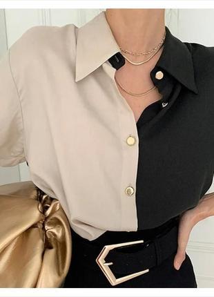 Блузка женская двух цветная. разные цвета.