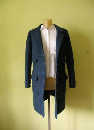 Изумрудное женственное пальто. женская верхняя одежда. сердньо...