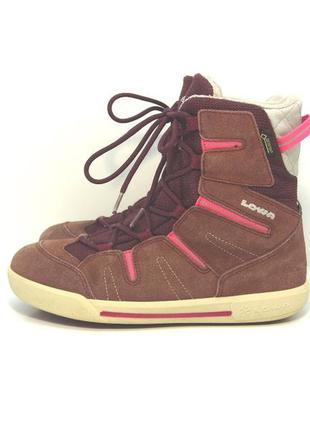 Детские замшевые зимние ботинки lowa р. 36