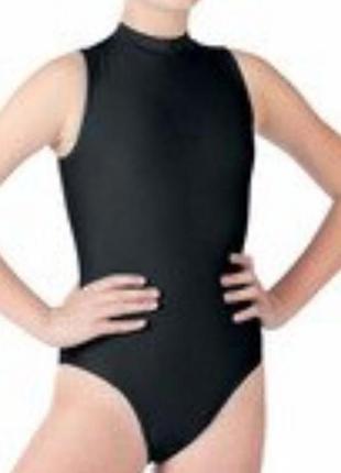 Детский купальник боди с высокой горловиной без рукавов/гимнас...