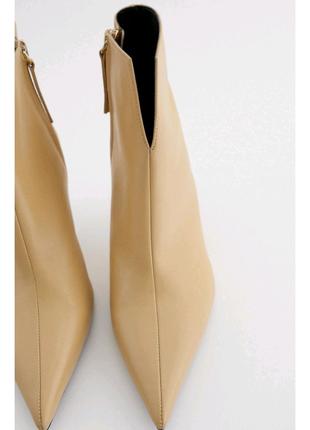 Ботинки на каблуке кожание